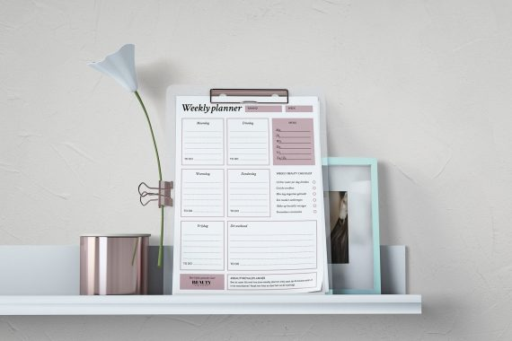 Beauty Royale weekly planner