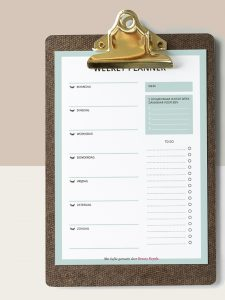BR weekly planner lashes