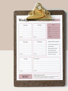 BR weekly planner original